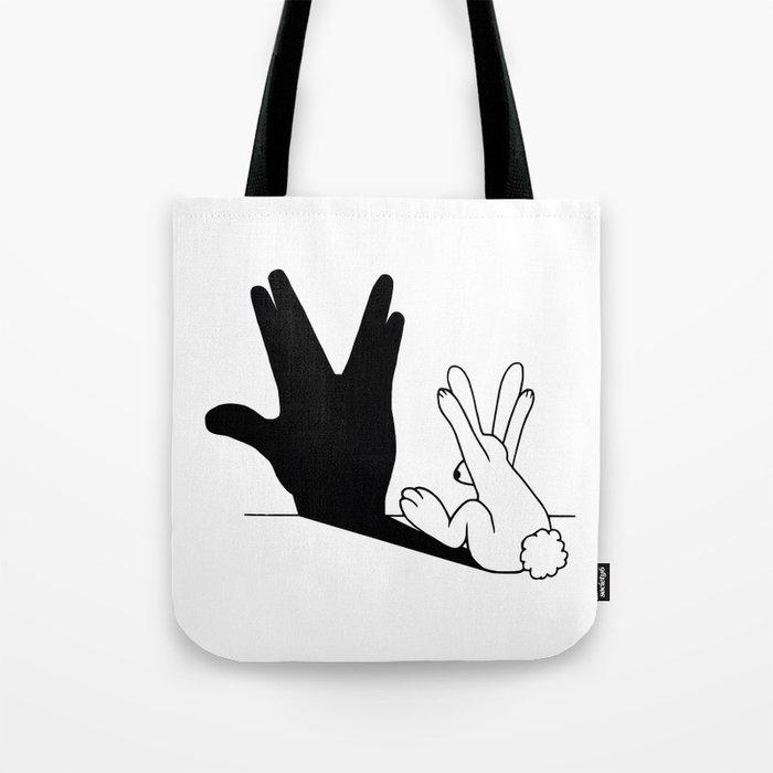 Rabbit Trek Hand Shadow Tote Bag