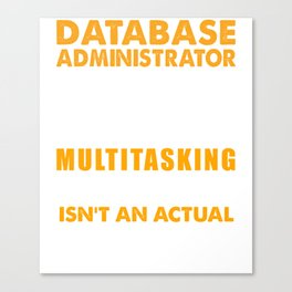 Database Administrator Wizard Canvas Print