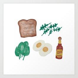 Breakfast Foods Art Print