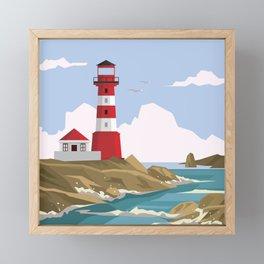 Lighthouse Ahoy! Framed Mini Art Print
