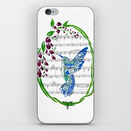 Carrier of Hope (Hummingbird and Wisteria) iPhone Skin