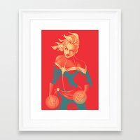 captain Framed Art Prints featuring Captain by SandraG.N.