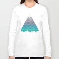geology Long Sleeve T-shirts featuring Many Mountains by Rick Crane