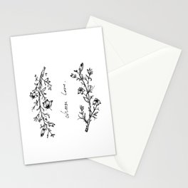 Choose Love (and Flowers) Stationery Cards