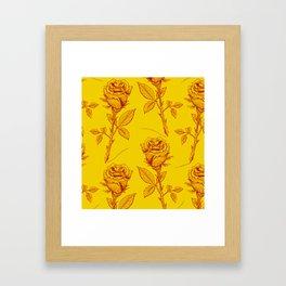 Yellow Roses pattern Framed Art Print