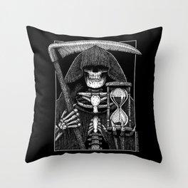 Patient Pale Rider - Grim Reaper Throw Pillow