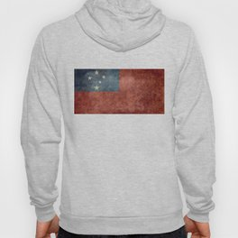 Samoan national flag - Vintage retro version to scale Hoody