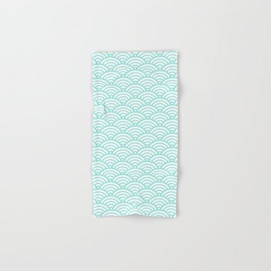 Wave Tiffany Blue Hand & Bath Towel
