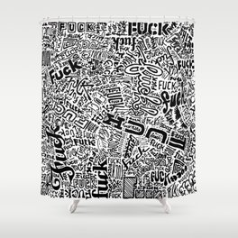 LOOK AT ALL THE FUCKS YOU DO NOT GIVE Shower Curtain