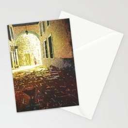 Chicken and alleyway in the UNESCO World Heritage city of G Stationery Cards