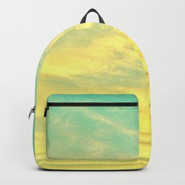 Green Yellow Sunset Backpack
