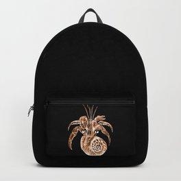 Fish coastal nautical in black background Backpack