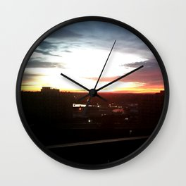 Sunrise City Wall Clock