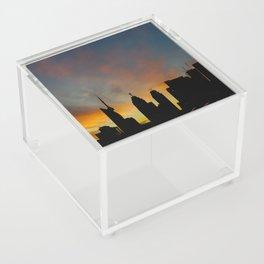 Skyline Sunset City Silhouette Acrylic Box
