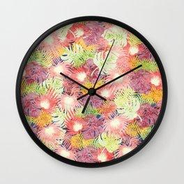 Tropical Leaves #03 Wall Clock