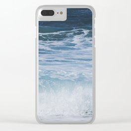 Ocean waves from the depths of the stars Clear iPhone Case