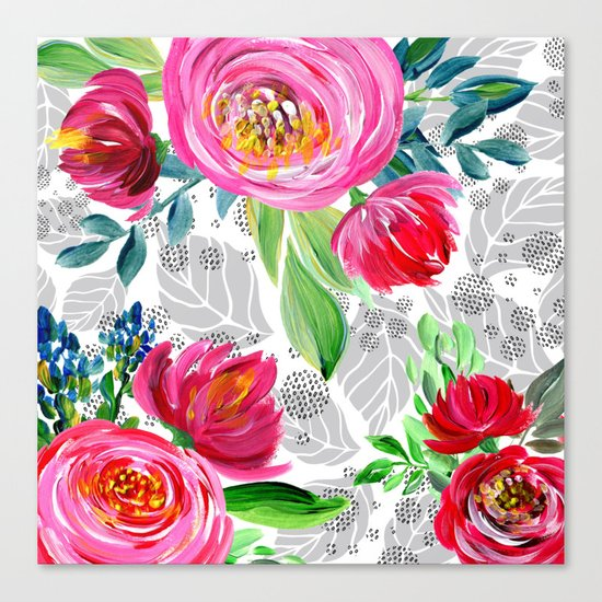Spring flowering Canvas Print
