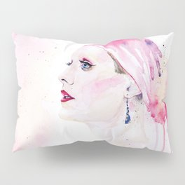 Rayon | Jared Leto in Dallas Buyers Club | Watercolor Portrait Pillow Sham
