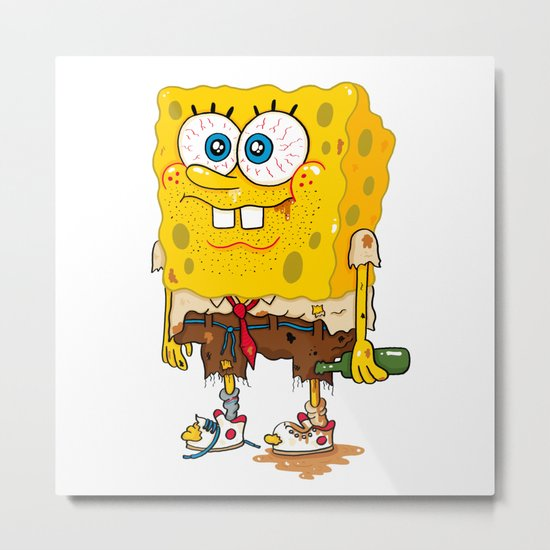 SpongeSlob DirtyPants Metal Print