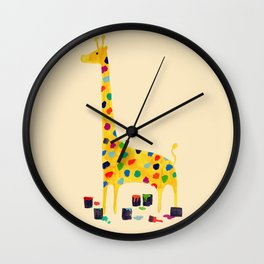 Paint by number giraffe Wall Clock