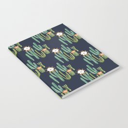 Dark Cactus Desert Notebook