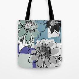 flowerpatch blue Tote Bag
