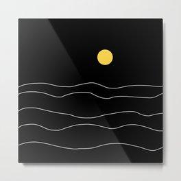 Black Ocean Metal Print