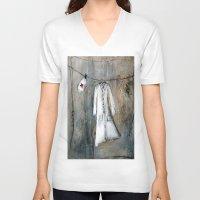 nurse V-neck T-shirts featuring nurse by woman