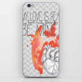 My love is real iPhone Skin