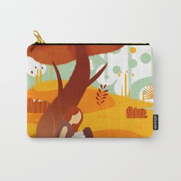 Summer Reading Girl Under Tree Carry-All Pouch