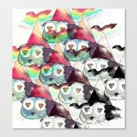 internet Canvas Prints featuring Internet by iJustlikeMilk