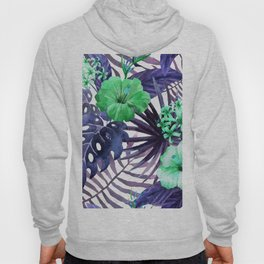 Watercolor botanical leaves Hoody