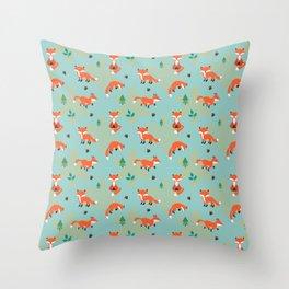 Foxes Foxes Foxes Throw Pillow