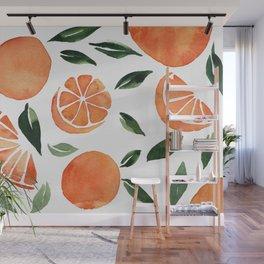 Summer oranges Wall Mural
