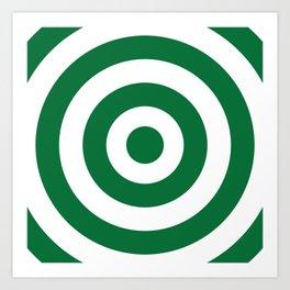Target (Olive & White Pattern) Art Print