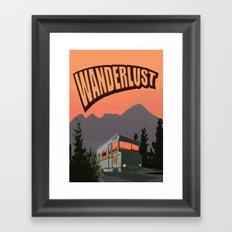 Wanderlust Travel Poster Framed Art Print