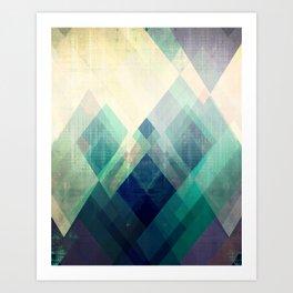 Mountains print, Abstract print, geometric wall art, abstract mountain, minimalist art, modern art, Art Print