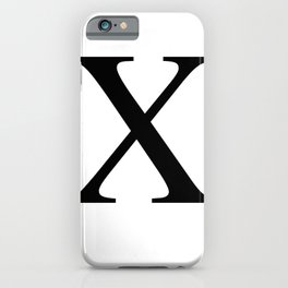 X - Harlem - African-American Remembrance in White Motif iPhone Case