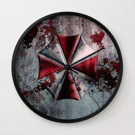 Umbrella with blood Wall Clock