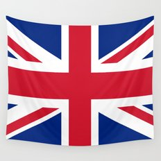 UK FLAG - The Union Jack Authentic color and 3:5 scale  Wall Tapestry