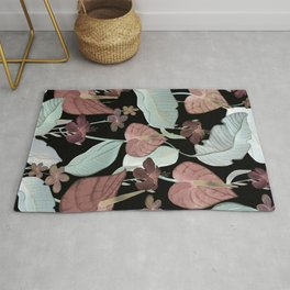 Simple Floers Nature Pattern Rug