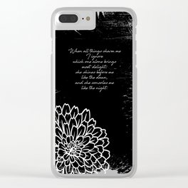 Charles Baudelaire - The Temptation - She consoles me like the night Clear iPhone Case