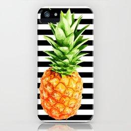 Pineapple, kitchen poster, garden poster, summer shirt, summer poster iPhone Case
