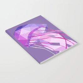 Low Poly Pelagia Noctiluca Jelly Fish. Notebook
