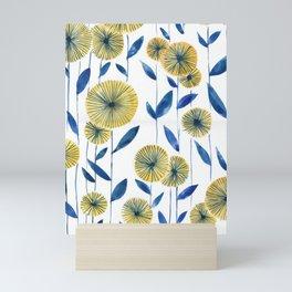 Yellow Floral Pattern Mini Art Print