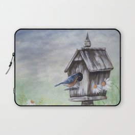 Daisies and Bluebirds Laptop Sleeve