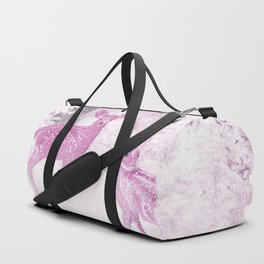 Winter Fawns in Rose Duffle Bag