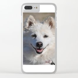 American Eskimo Clear iPhone Case