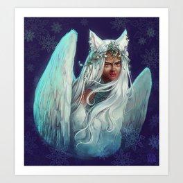 Snow Goddess Art Print