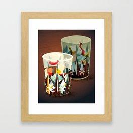 Whiskey Glasses Framed Art Print
